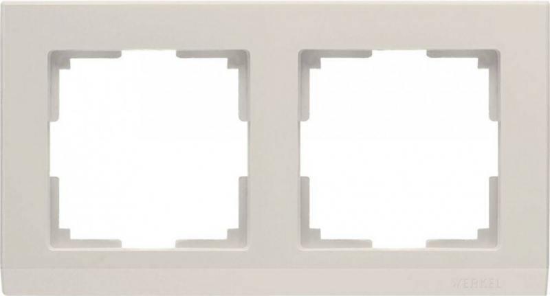 Рамка Stark на 2 поста слоновая кость WL04-Frame-02-ivory 4690389046513
