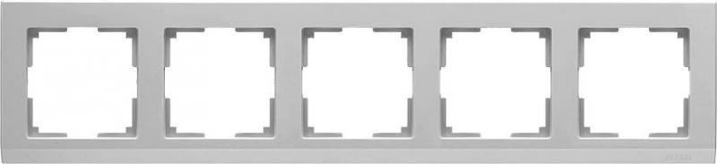 Рамка Stark на 5 постов серебряный WL04-Frame-05 4690389063732 werkel рамка stark на 5 постов черный werkel wl04 frame 05 silver black 4690389059353