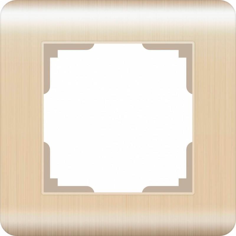Рамка Stream на 1 пост шампань WL12-Frame-01 4690389079122