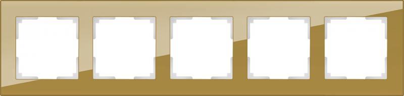 Рамка Favorit на 5 постов бронзовый WL01-Frame-05 4690389098680