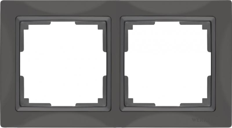 Рамка Snabb Basic на 2 поста серо-коричневый WL03-Frame-02 4690389099045