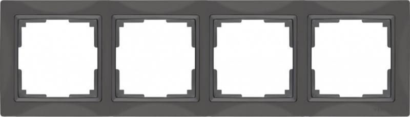 Рамка Snabb Basic на 4 поста серо-коричневый WL03-Frame-04 4690389099069