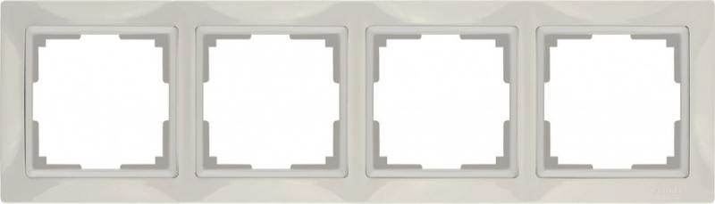 Рамка Snabb Basic на 4 поста слоновая кость WL03-Frame-04 4690389098765
