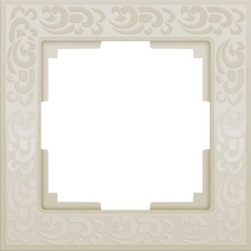 Рамка Flock на 1 пост слоновая кость WL05-Frame-01-ivory 4690389046902 рамка flock на 1 пост белая werkel 1022948