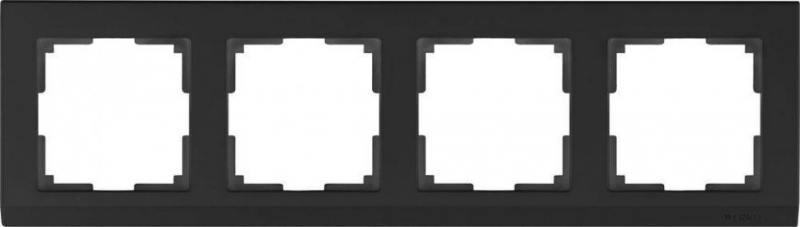 Рамка Stark на 4 поста черный WL04-Frame-04-silver/black 4690389048869