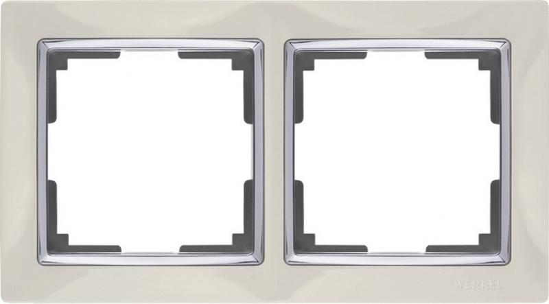 Рамка Snabb Basic на 2 поста слоновая кость WL03-Frame-02 4690389098727