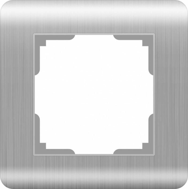 Рамка Stream на 1 пост серебряный WL12-Frame-01 4690389076367 цена