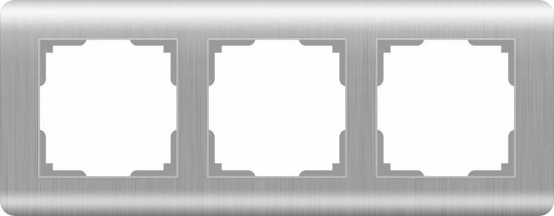 Рамка Stream на 3 поста серебряный WL12-Frame-03 4690389076381 цена