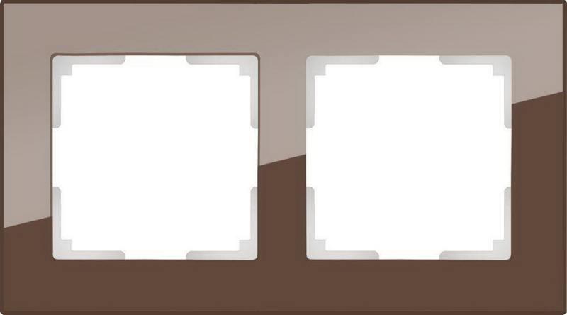 Рамка Favorit на 2 поста мокко WL01-Frame-02 4690389063756