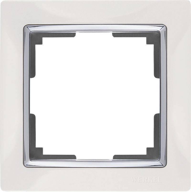 Рамка Snabb на 1 пост белая WL03-Frame-01-white 4690389046100 werkel рамка snabb на 1 пост белая werkel wl03 frame 01 white 4690389046100