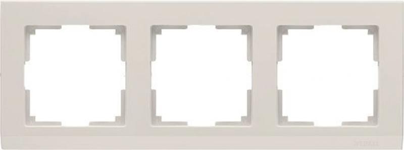 Рамка Stark на 3 поста слоновая кость WL04-Frame-03-ivory 4690389046520