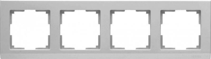 Рамка Stark на 4 поста серебряный WL04-Frame-04 4690389063718