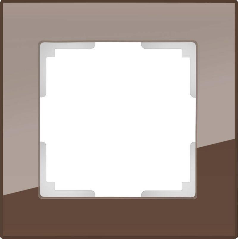 Рамка Favorit на 1 пост мокко WL01-Frame-01 4690389063749