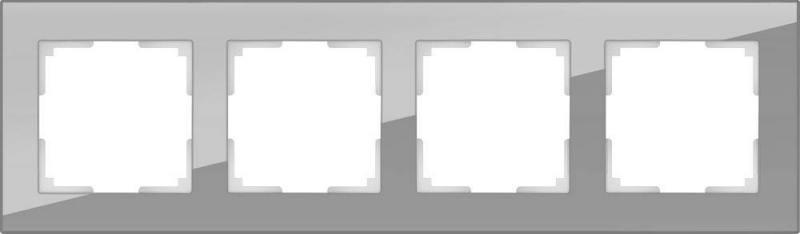 Рамка Favorit на 4 поста белый WL01-Frame-04 4690389061233