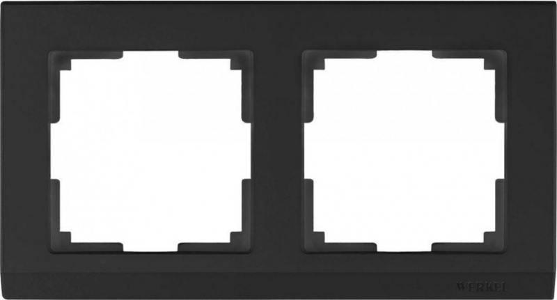 Рамка Stark на 2 поста черный WL04-Frame-02-silver/black 4690389048845