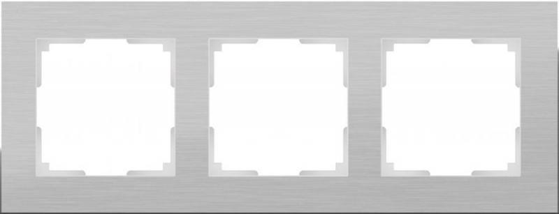 Рамка Aluminium на 3 поста алюминий WL11-Frame-03 4690389073649 рамка aluminium на 3 поста алюминий черный wl11 frame 03 4690389110467