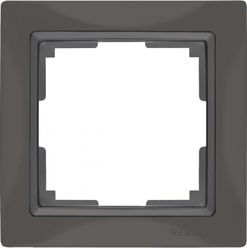 Рамка Snabb Basic на 1 пост серо-коричневый WL03-Frame-01 4690389099038
