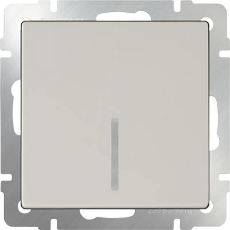Выключатель одноклавишный с подсветкой слоновая кость WL03-SW-1G-LED-ivory 4690389059261 werkel выключатель одноклавишный с подсветкой слоновая кость werkel wl03 sw 1g led ivory 4690389059261