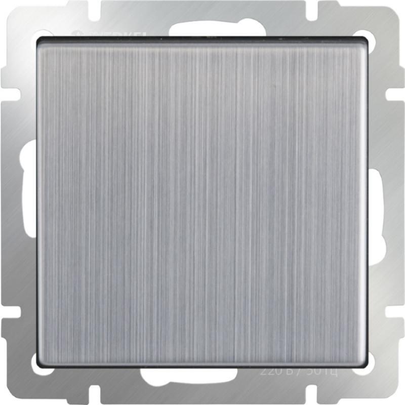 Выключатель одноклавишный глянцевый никель WL02-SW-1G 4690389045738