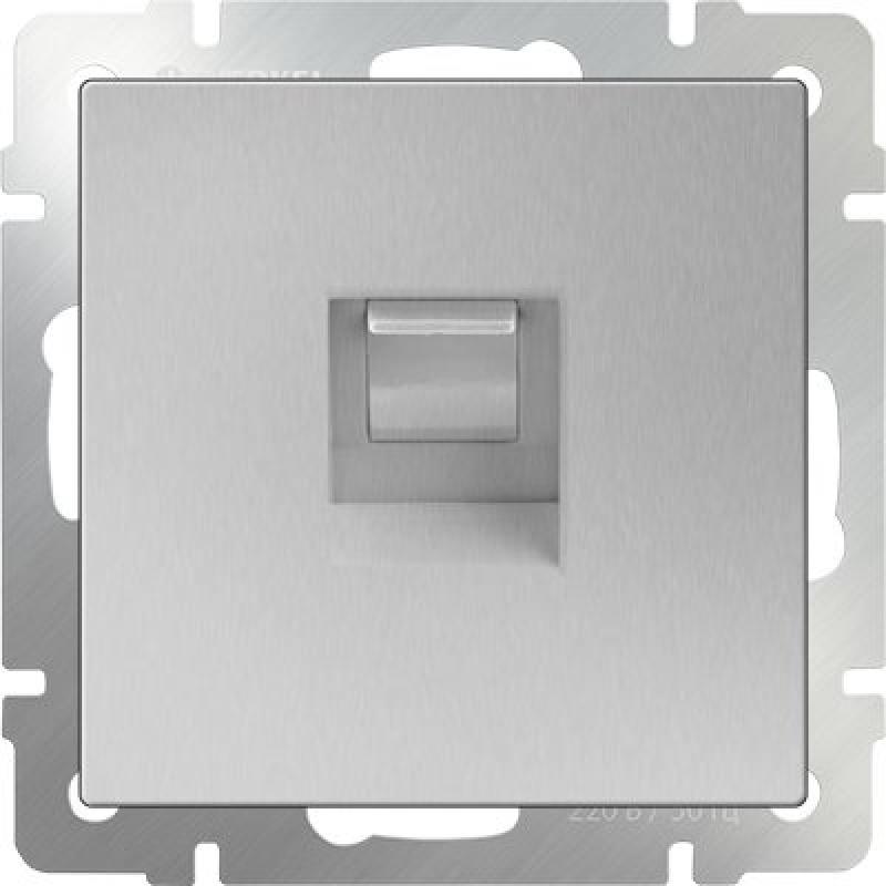 Розетка Ethernet RJ-45 серебряный WL06-RJ-45 4690389053931