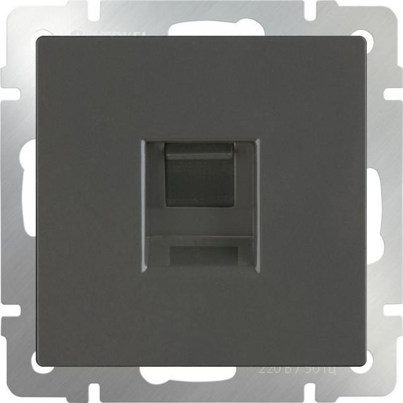 Розетка Ethernet RJ-45 серо-коричневая WL07-RJ-45 4690389054099