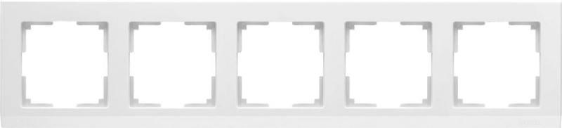 Рамка stark на 5 постов белый