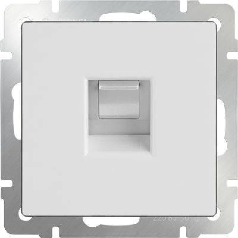 Телефонная розетка RJ-11 белый WL01-RJ-11 4690389045646