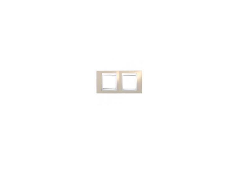 Рамка 2 пост коричневый/белый Schneider Electric MGU6.004.874
