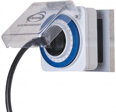 Розетка-таймер Elektrostandard TMH-M-2 16A x1 IP44 Белый 4690389032394 5pcs ac250v 16a 125v 20a dpdt 6pin 2 position rocker switch w waterproof cover