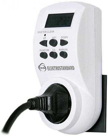 Розетка-таймер Elektrostandard TMH-E-4 16A x1 IP20 Белый 4690389032417