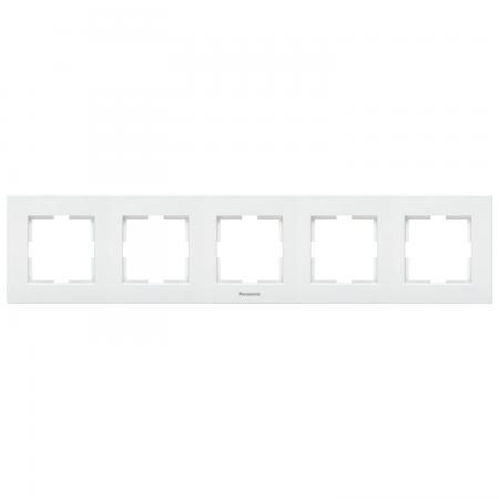 Рамка PANASONIC WKTF0814-2SL-RES Karre Plus 5м горизонтальная белая рамка panasonic wktf0805 2wh res karre plus 5м горизонтальная белая