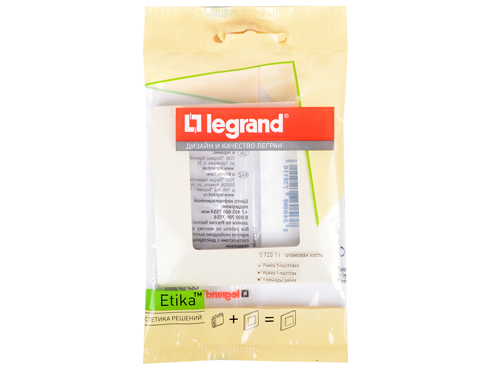Рамка LEGRAND 1066957 1-м etika сл. кость 672511