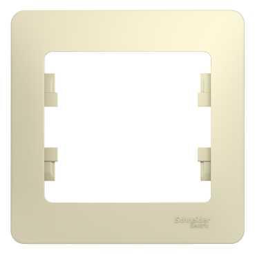 Рамка SCHNEIDER ELECTRIC GSL000201 Glossa 1-м беж. рамка schneider electric gsl000201 glossa