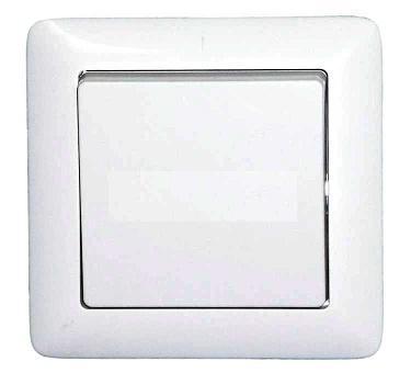 Выключатель WESSEN VS16-133-B ХИТ белый 1-клавишный 6А скрытый монтаж