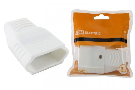 Розетка кабельная ТДМ SQ1806-0091 10А 250B (под евровилку CEE 7/16) с з/ш прямой вывод кабеля бела