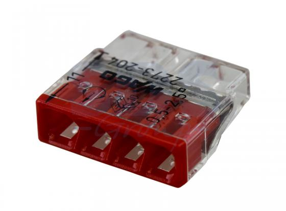 2273-204 Электромонтажные экспресс-клеммы (4*2.5мм2) 100шт WAGO 1180 30