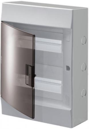 ABB 1SPE007717F9993 Бокс настенный Mistral41 24М прозрачная дверь (с клемм) розетка abb bjb basic 55 шато 2 разъема с заземлением моноблок цвет чёрный