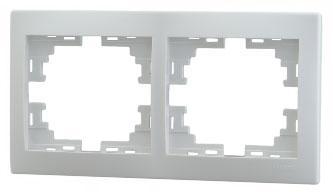 Рамка LEZARD 701-0200-147 серия Мира 2-ая горизонтальная белый система mighty пер 21 24 скор алюм сталь смен звезды 22 32 42 175мм с защ 20 серебр 5 350317