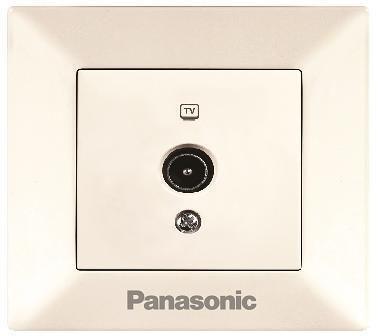 Розетка PANASONIC WMTC0451-2BG-RES Arkedia TV концевая крем