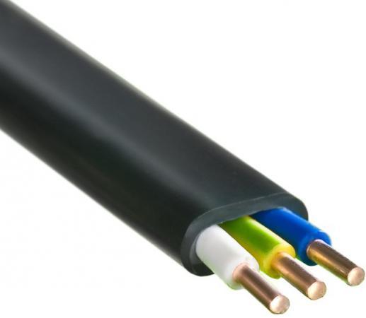 Кабель силовой ВВГ-Пнг (А) Калужский кабельный завод 3x2.5 мм плоский 100м черный ГОСТ ключ трубный мамонт тип s 2 1 1 2 420 мм