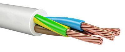 Провод соединительный ПВС Калужский кабельный завод 3x1.5 мм круглый 150м белый ГОСТ