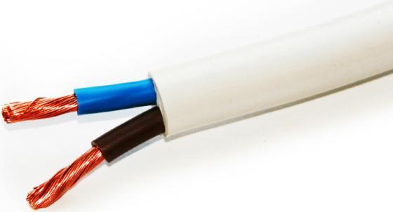 Провод соединительный ПВС Калужский кабельный завод 2x1.5 мм круглый 150м белый ГОСТ