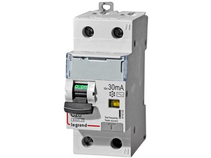 Выключатель дифференциального тока Legrand DX3 1П+Н C20А 30MA-AC 411003 автоматический выключатель дифференциального тока abb 1п n c 30ma тип ac 4 5ka dsh941r 10a 2csr145001r1104
