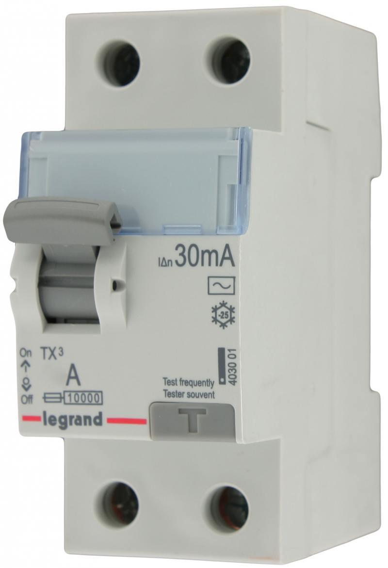 Выключатель дифференциального тока Legrand TX3 2П 40A 30MA-AC 403001