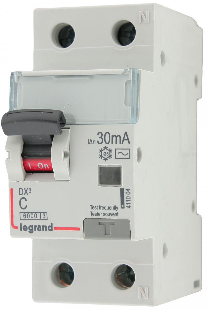 Выключатель дифференциального тока Legrand DX3 1П+Н C25А 30MA-AC 411004