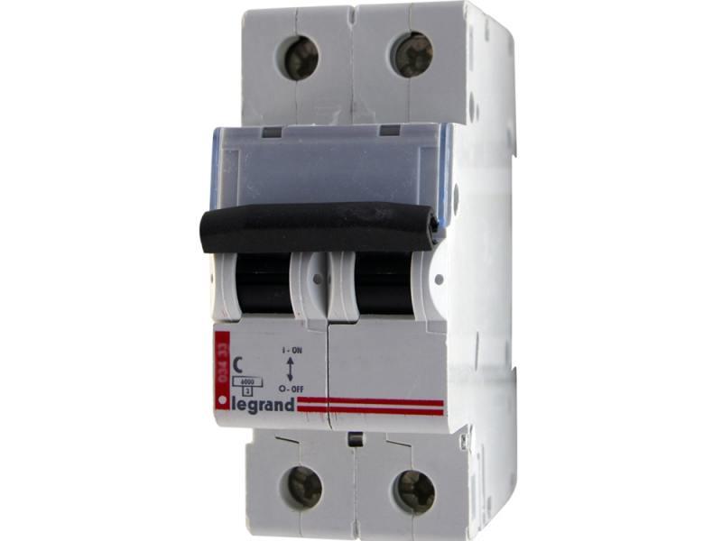 Автоматический выключатель Legrand TX3 6000 тип C 2П 20А 404043