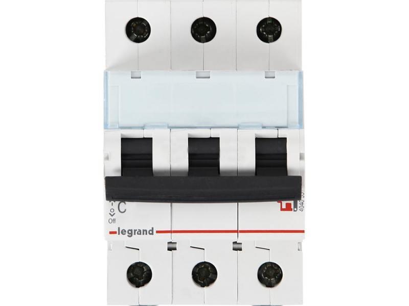 Автоматический выключатель Legrand TX3 6000 тип C 3П 25А 404058 автоматический выключатель legrand 1p c 25а tx3 6ка 404030