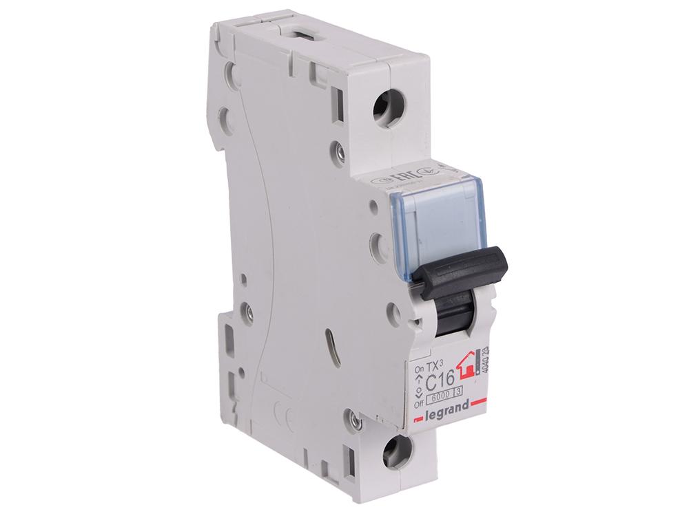 Автоматический выключатель Legrand TX3 6000 тип C 1П 16А 404028