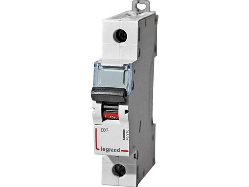 Автоматический выключатель Legrand DX3 6000 10кА тип C 1П 20А 407671 автоматический выключатель tdm ва47 100 3р 100а 10ка d sq0207 0033