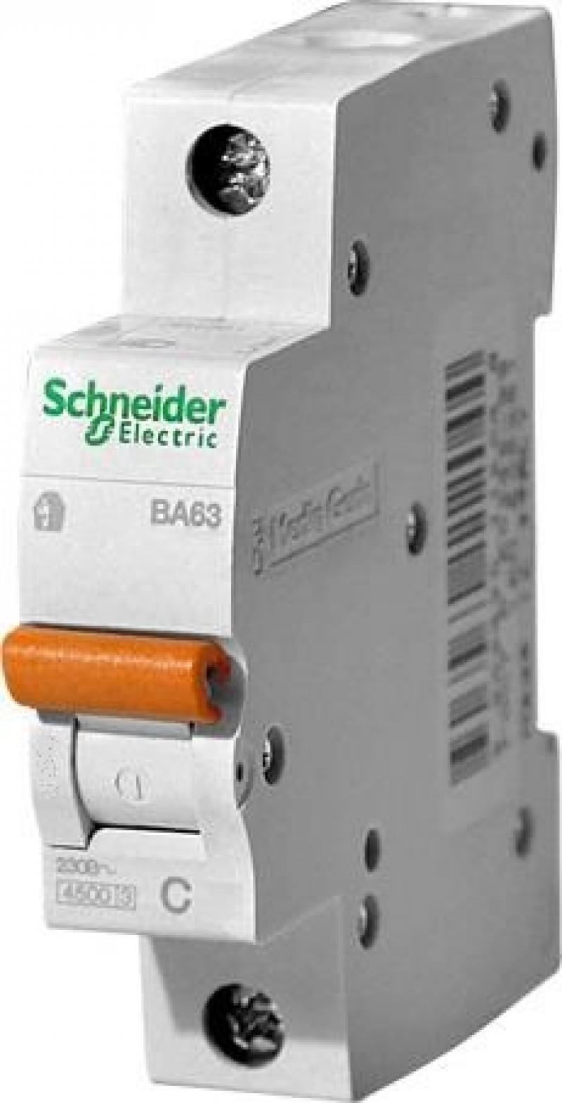 Автоматический выключатель Schneider Electric ВА63 1П 63A C 11209